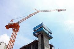 Scaffolding construction site Stock Photos