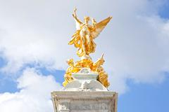 closeup queen victoria memorial - stock photo