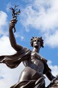 Stock Photo of angel of justice victoria memorial london