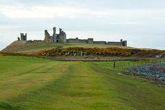 Stock Photo of dunstanburgh castle