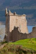 urquhart castle scotland - stock photo
