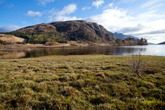 Loch shiel lake reflection scotland Stock Photos