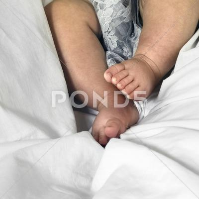 Stock photo of baby feet