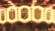 Lights On A Merry-Go-Round Stock Footage