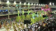 Stock Video Footage of Carnival Dancers On A Float