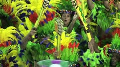 Carnival Dancers In Rio - stock footage