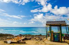 Outdoor Tropical Bar and Souvenirs Stock Photos