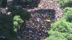View From Above - Rio s Street Carnival 1 - stock footage