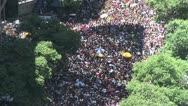 Stock Video Footage of View From Above - Rio s Street Carnival 1