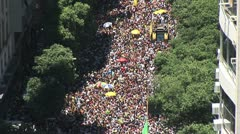 View From Above - Rio s Street Carnival 4 Stock Footage