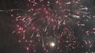 Stock Video Footage of Fireworks exploding in mid-air 1