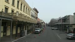 Old Sacramento, driving Stock Footage