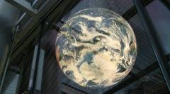 Enormous Rotating Illuminated World Globe - stock footage