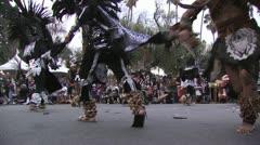 Aztec dancing ritual - stock footage
