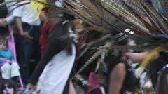Aztec dancers performing dancing ritual 3 - stock footage