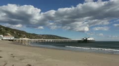 Malibu Pier Wide Angle HD Stock Footage