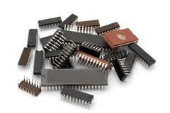 Computer microchips Stock Photos