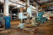 The old metalcutting machine tool. Stock Photos