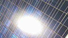 Sunlight On A Solar Panel - Zoom In - stock footage