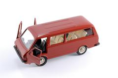 collection scale model of the car minibus - stock photo