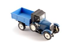 collection scale model of the retro truck - stock photo