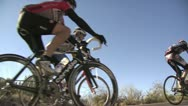 Stock Video Footage of Bicycle Racers On A Bright Sunny Day