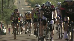Cyclists In A Road Race 2 Stock Footage