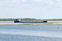 River ship Stock Photos