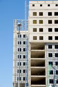 construction of office building - stock photo