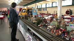 720p G Scale Train Layout Show Model Display 3 Stock Footage