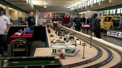 720p G Scale Train Layout Show Stock Footage