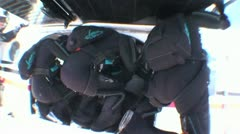 Skydivers Preparing To Jump From A Plane2 Stock Footage