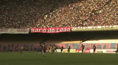 Brazilian Soccer Game Stock Footage