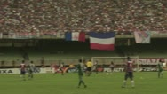 Soccer Players Scoring a Goal Stock Footage