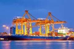 Stock Photo of shipyard logistic import export