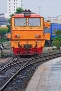 diesel locomotive train - stock photo