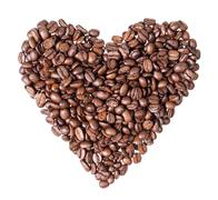 Heart fron coffee beans Stock Photos