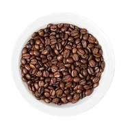 coffee beans in white bowl - stock photo