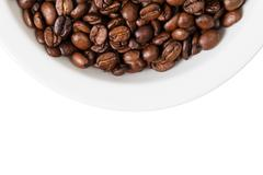 border from part of bowl with coffee - stock photo