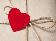 Valentines day parcel Stock Photos