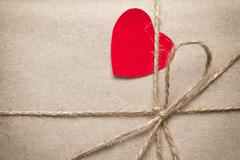 Stock Photo of valentines day parcel
