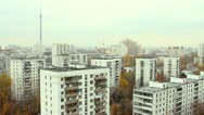Stock Video Footage of Panorama of Moscow. Ostankino. Aerial view