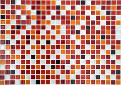 red ceramic mosaic background - stock photo