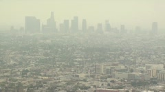 Smoggy Cityscape Stock Footage