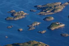 islets on lofoten - stock photo