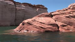 Canyon From The Colorado River Stock Footage