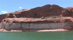 View of Marble Canyon From The Colorado River 2 Stock Footage
