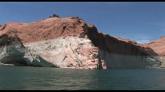 Riverboat In The Colorado River With The Grand Canyon In The Background Stock Footage