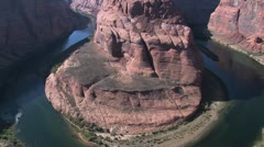View of Colorado River and Canyon Wall Stock Footage