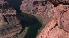 View of the Colorado River from Horseshoe Bend, Navajo Reservation, Arizona Stock Footage